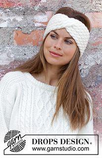 knit headband pattern Waiting for Snow Headband / DROPS - Gestricktes Stirnband mit Zopfmuster in DROPS Merino Extra Fine oder DROPS Karisma. Loom Knitting Patterns, Free Knitting, Free Crochet, Crochet Patterns, Drops Karisma, Knitted Hats, Crochet Hats, Easy Crochet Headbands, Sweaters Knitted