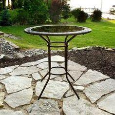 Backyard Creations Nicolett Wicker High Bistro Chair X4