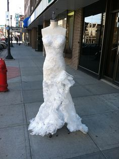 Plastic bag dress. ABC dress (Anything but clothes) made out of ...