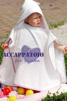 Accappatoio poncho per bambini con tutorial - Mamma Papera —