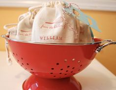 Cooking Party Muslin Bag / Set of 15 / Birthday by littlechicklets