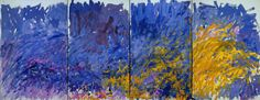 Joan Mitchell-Edrita Fried, 1981. Oil on canvas (four panels), 117 x 300 inches (297.2 x 762 cm).