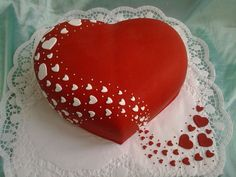 The photo - Heart Shaped Wedding Cakes, Heart Shaped Cakes, Heart Cakes, Music Themed Cakes, Rodjendanske Torte, Wedding Cake Cookies, Wedding Anniversary Cakes, Cake Writing, Valentines Day Cakes
