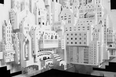 """Lower part """"Big City"""" by Ingrid Siliakus l #3D #sculpture #paperarchitecture"""