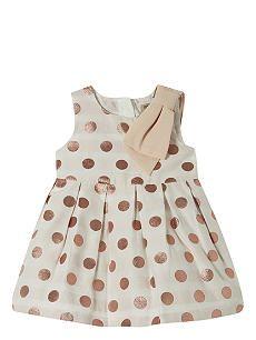 HUCKLEBONES Metallic dot bodice dress 3-18 months