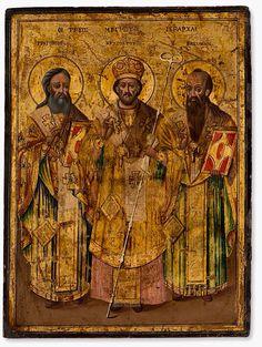 The Three Hierarchs. Typical Russian, Church Interior, Byzantine Art, Orthodox Icons, Ancient Greek, Third Eye, Black History, Saints, Images