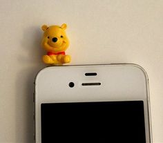 Cute Disney Character Winnie the Pooh Dust Plug/ by CoolerThanCool, $3.59