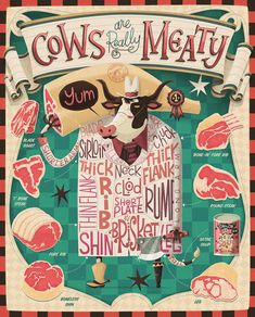 Cows are Really Meaty - collection by Steve Simpson, via Behance