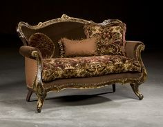 Victorian furniture, gilded loveseat luxury furniture