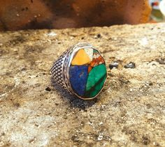 Guarda questo articolo nel mio negozio Etsy https://www.etsy.com/it/listing/517779170/silver-ring-ancient-marbles-hand-made