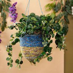 Noah's Art & Crafts Wrappers Hanging Basket - FabFurnish.com#DiwaliDecor #FabFurnish