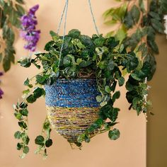 Noah's Art & Crafts Wrappers Hanging Basket - FabFurnish.com#DiwaliDecor #FabFurnish