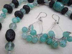 Hey, I found this really awesome Etsy listing at https://www.etsy.com/listing/190325097/green-flourite-gemstone-beaded-earrings