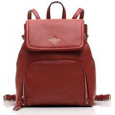 Kate Spade Cobble Hill Charley (14.585 RUB) ❤ liked on Polyvore featuring bags, handbags, back pack purse, red purse, retro purses, kate spade tote and kate spade handbag