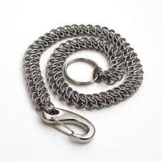 Chainmail wallet chain, stainless steel GSG weave by TattooedAndChained, $90.00
