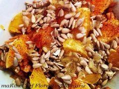 Mic dejun sanatos cu mar si portocala Grains, Healthy Eating, Chicken, Meat, Breakfast, Food, Eating Healthy, Morning Coffee, Healthy Diet Foods