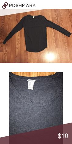Heather blue baseball t Size large but fits more like a medium.   Heather blue baseball t. This long sleeve t shirt Only been worn once no fading no flaws ❤️ Forever 21 Tops Tees - Long Sleeve
