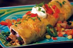 Black Bean & Rice Enchiladas with The Spice Hunters Salt Free Chili Powder and Ground Red Pepper from our friends at Weis Markets!