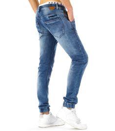Pánske športové modré jogger nohavice