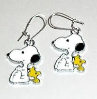 Snoopy w/Woodstock pierced earrings - Cute!