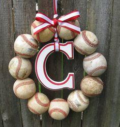 Baseball Love Wreath