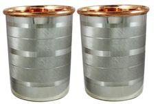 Handmade Drink ware Accessories Pure Copper & Stainless Steel Glass / Cup 9 Oz  #VisvabhavanahMart
