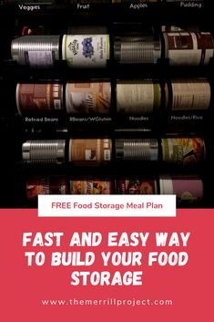 Get your food storage started fast with this unique food storage meal plan. Recipes and shopping lists included. Emergency Preparedness Plan, Emergency Food Supply, Disaster Preparedness, Lds Food Storage, Long Term Food Storage, Storage Ideas, Meat Online, Base Foods, Unique Recipes