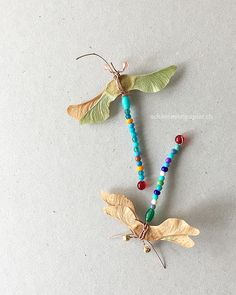Im Sommer basteln - Bunte Libellen mit Ahornflügeln - Brilliant DIY Thrift Store Crafts You Should Totally Try Diy Crafts To Do, Fun Crafts For Kids, Diy For Kids, Easy Crafts, Arts And Crafts, Thrift Store Crafts, Clothes Crafts, Nature Crafts, Handicraft