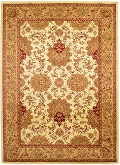 8' 2 x 11' 6 Ivory Isfahan Area Rugs   $378