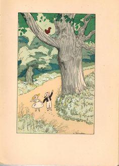 """Illustration by Jacques Touchet for Comtesse de Ségur, """"Les Malheurs de Sophie,"""" Paris, Piazza, 1930."""