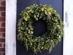 Modern Chartreuse Christmas Wreath