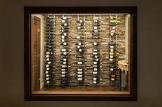 Contemporary home make-over, by Interior Designer Niina Di Lorenzo, featuring the wine room as art. Photos by Dawn Meier of Sunrise Photography Co Ltd. Sunrise Photography, Wine Cellar, Windows, Contemporary, Interior Design, Home, Room Art, Clever, Interiors