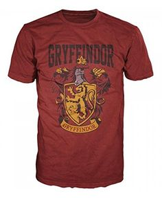Harry Potter Gryffindor Mens Red T-Shirt S @ niftywarehouse.com