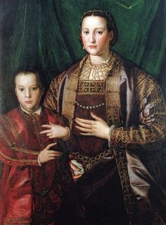 Pietro de' Medici with his mother, Eleonora of Toledo