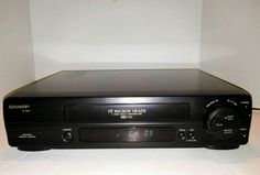 SHARP VC-A552 VHS VCR 19 Micron 4 Head No Remote Works Great #Sharp