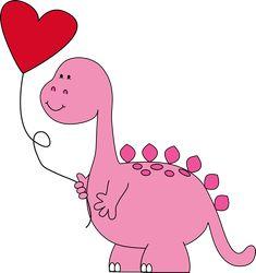 Funny Valentine, Valentine Cartoon, Dinosaur Valentines, Valentines Day Clipart, Valentines Balloons, Valentine Images, Dinosaur Images, Cute Dinosaur, Valentines Watercolor