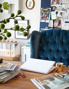 Beautiful Blue tufted chair <3