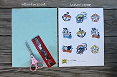 Free Download - Nautical Temporary Tattoos - Spaceships and Laser Beams