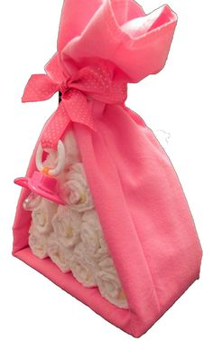 Diaper Cake Stork Bundle  Unique Baby Shower Gift by BabyBinkz, $19.50