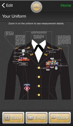 asu uniform diagram product wiring diagrams u2022 rh genesisventures us Army Asu Rank Placement Guide army asu measurement guide female