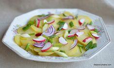 salata de cartofi cu otet si ceapa Pudding, Desserts, Honey, Food, Pork, Fine Dining, Salads, Tailgate Desserts, Deserts