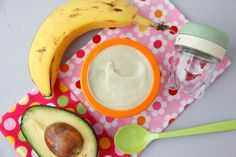 Banana Avocado Mousse takes mere minutes to whip up and is a great baby food for your new eater!
