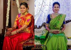 Gorgeous Brides in Elbow Length Blouses | Saree Blouse Patterns