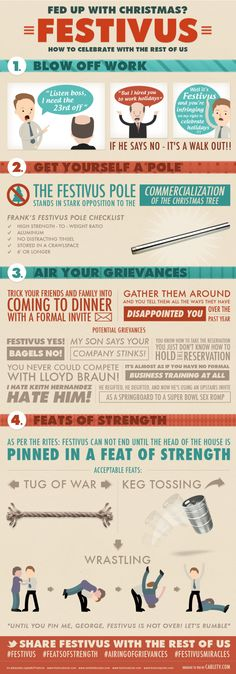 Festivus! So having a festivus party this year. Being on the feats of strength and airing of grievances!! Lol