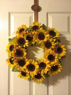 Sunflower Wreath Spring Wreath Summer Wreath Flower