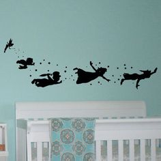 You can fly!  Shop Tinkerbell Wall Decals on Wanelo