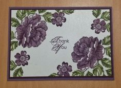 Stippled Blossoms two-step stamping using Blackberry Bliss and Mossy Meadow 2014-2016 In Colors from Stampin' Up!