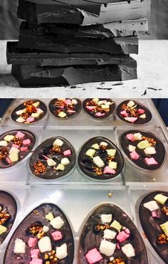 Before and After: Rocky Road Easter Eggs
