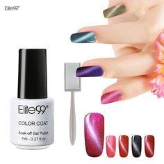 Elite99 7ml UV LED Gel Lacquer Varnish 3D Cat Eyes Gel Nail Polish UV Gel Polish Cat Eyes Nail Art Polish 1pcs Color 1 Magnet