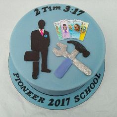 JW cake made for pioneer school by MarciasCakes